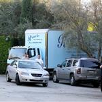 Trucks outside Nicole Richie's home in preparation for the wedding  74529