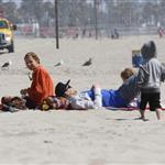 Nicole Richie  with Joel Madden and kids at the beach in Santa Monica  110933