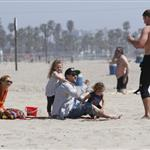 Nicole Richie  with Joel Madden and kids at the beach in Santa Monica  110938