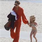 Nicole Richie  with Joel Madden and kids at the beach in Santa Monica  110945