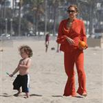 Nicole Richie  with Joel Madden and kids at the beach in Santa Monica  110947