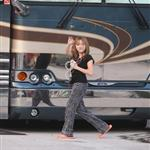 Noah Cyrus looks like a 9 year old hanging by Miley's tour bus in Miami 51566