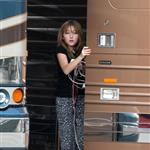 Noah Cyrus looks like a 9 year old hanging by Miley's tour bus in Miami 51568