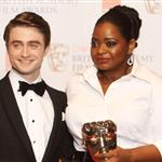 Daniel Radcliffe and Octavia Spencer at the 2012 BAFTAs 105876