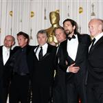 Adrien Brody with best actors presenting Sean Penn at the 2009 Oscars 33357