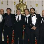 Adrien Brody with best actors presenting Sean Penn at the 2009 Oscars 33350