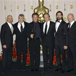 Adrien Brody with best actors presenting Sean Penn at the 2009 Oscars 33352