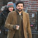 Oscar Isaac seen filming his new movie Inside Llewyn Davis in Queens, New York 104940