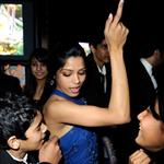 Freida Pinto and cast at Oscars 2009 33477
