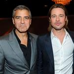 George Clooney and Brad Pitt attend the 84th Academy Awards Nominations Luncheon 105109