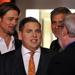 George Clooney, Brad Pitt and Jonah Hill attend the 84th Academy Awards Nominations Luncheon 105113