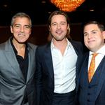 George Clooney, Brad Pitt and Jonah Hill attend the 84th Academy Awards Nominations Luncheon 105114