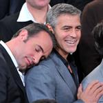 Jean Dujardin and George Clooney attend the 84th Academy Awards Nominations Luncheon 105124