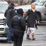 Gwyneth Paltrow in Chicago on the set of Contagion  74694