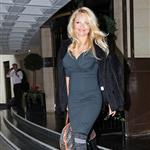 Pamela Anderson works a bloat in London after partying all night  49574