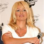 Pamela Anderson looks like she's had a touch up on her face at Richie Rich fashion show in Miami 35773