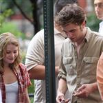Emilie de Ravin and Robert Pattinson shooting Remember Me 42250
