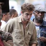 Robert Pattinson on the set of Remember Me 42242