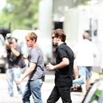 Robert Pattinson on set of Remember Me in New York  42678