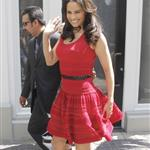 Paula Patton at The Grove to appear on the entertainment news show Extra 110870