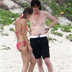 Paulina Porizkova and Ric Ocasek in St. Barth with one of their sons  121325