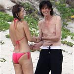 Paulina Porizkova and Ric Ocasek in St. Barth with one of their sons  121339