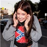 Peaches Geldof wears a confederate tee 60066