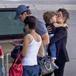 Penelope Cruz and Javier Bardem with their son Leo at the Madrid Airport 117464