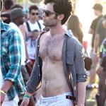 Penn Badgley shirtless at Coachella 83433