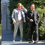 Sean Penn and Mickey Rourke smoke break together on Oscar Nominee luncheon day 31929