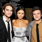 Landon Liboiron, Nina Dobrev and Reece Thompson at the official party for the cast of Perks of Being a Wallflower hosted by vitaminwater at TIFF 125517