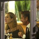 Sean Penn and Petra Nemcova at dinner with friends at Tetou in Cannes 115066