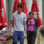 Freida Pinto and Dev Patel in Montreal leaving the gym 63461