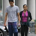 Freida Pinto and Dev Patel in Montreal leaving the gym 63463