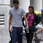 Freida Pinto and Dev Patel in Montreal leaving the gym 63466
