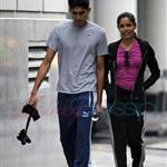 Freida Pinto and Dev Patel in Montreal leaving the gym 63467