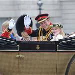 Prince Harry during the carriage procession  84231
