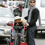 Brad Pitt Angelina Jolie take Shiloh Maddox Zahara Pax bike riding in New Orleans  15835