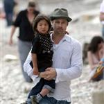 Brad Pitt Angelina Jolie hang out at the beach with The Edge 20151