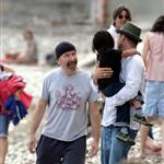 Brad Pitt Angelina Jolie hang out at the beach with The Edge 20153