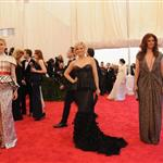 Elizabeth Banks, Amy Poehler and Debra Messing at the 2012 Met Gala 113626