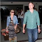 Jessica Simpson and boyfriend Eric Johnson arriving at LAX 65201