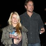 Jessica Simpson and Eric Johnson arrive at her nephew's third birthday party 98969