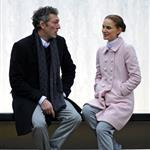 Natalie Portman on set in New York this week with Vincent Cassel 52089