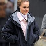 Natalie Portman on set in New York this week with Vincent Cassel 52090