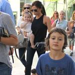 Victoria Beckham leaving Giggles N' Hugs restaurant after a birthday party with Harper in Century City, California 124302