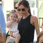 Victoria Beckham leaving Giggles N' Hugs restaurant after a birthday party with Harper in Century City, California 124303