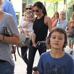 Victoria Beckham leaving Giggles N' Hugs restaurant after a birthday party with Harper in Century City, California 124308