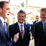 Prince William and Prince Harry with David Beckham in South Africa for England World Cup bid 79569
