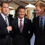 Prince William and Prince Harry with David Beckham in South Africa for England World Cup bid 79570